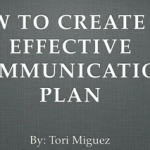 create an effective communication plan